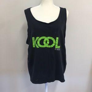 Vintage distressed Kool muscle shirt!